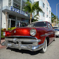 1952 Ford Customline in Miami Beach Stock Image