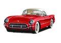1954 Chevrolet Corvette Royalty Free Stock Photo