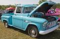 1955 Chevy Aqua Blue Truck Stock Photography