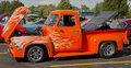 1955 Ford F-100 Orange Cat Royalty Free Stock Images