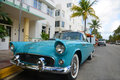1957 Ford Thunderbird in Miami Beach Stock Photos