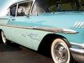 1958 bela powietrza chevy classic Fotografia Royalty Free