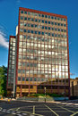 1960s office block, London, late afternoon Royalty Free Stock Image