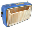 1960s radio (blue) Royalty Free Stock Photo