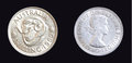 1962 Australian Shilling Silver Coin Royalty Free Stock Photos