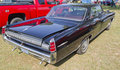 1963 Black Pontiac Bonneville Rear Side Royalty Free Stock Images
