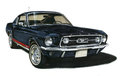 1967 Ford Mustang GT Fastback Royalty Free Stock Photography