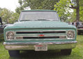 1968 Chevy Truck Aqua Blue Front view Stock Photo