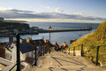 199 steps in Whitby Royalty Free Stock Photos