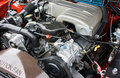 1993 Ford Mustang 5.0 V8 Engine Stock Photo