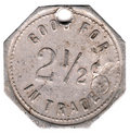 2 1/2 Cent Token Royalty Free Stock Photo