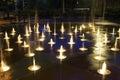 2个活动喷泉冻结微型水 免版税库存照片