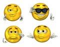 2 3d big emoticons set Στοκ φωτογραφίες με δικαίωμα ελεύθερης χρήσης