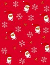 2 Claus Santa tileable Images libres de droits