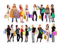 2 groups of  girls Royalty Free Stock Photography