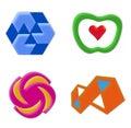 2 ikon zestaw logo Zdjęcie Stock