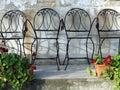 2 krzeseł ogród Obrazy Royalty Free