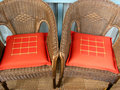 2 wicker chairs Royalty Free Stock Photos