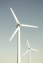 2 wind turbines Royalty Free Stock Images