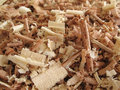 2 wood shavings Arkivfoton