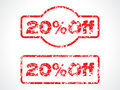 20% off grunge stamp Royalty Free Stock Images