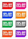 20% off sticker price Royalty Free Stock Photos