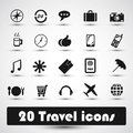 20 travel icons Stock Images