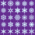 20 Vector Snow Flakes Royalty Free Stock Photo