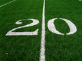 20 Yard Line Stock Photography