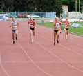 200 meters dash Royalty Free Stock Photos