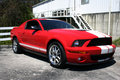 2007 Red Ford Mustang Cobra Stock Photos