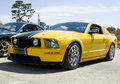 2008 Ford Mustang GT Yellow Stock Images