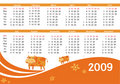 2009 calendar with cow Stock Image