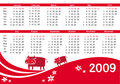 2009 calendar with cow Stock Photography