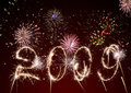 2009-celebratory fireworks and salute Royalty Free Stock Photos