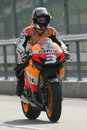 2009 Dani Pedrosa of Repsol Honda Team Stock Images