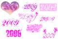 2009 lettering series-love theme- Stock Image