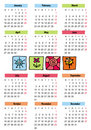 2009 seasons calendar Royalty Free Stock Photography