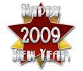 2009 szczęśliwych nowy rok Obrazy Stock