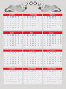 2009 Year calendar Royalty Free Stock Photos