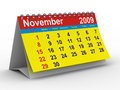 2009 year calendar. November Royalty Free Stock Photography