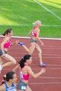 200m heat (women) Royalty Free Stock Photo