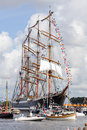 2010年阿姆斯特丹游行风帆 免版税库存照片