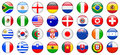 2010 World Cup Team Flag Internet Buttons Stock Images