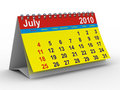 2010 year calendar. July Royalty Free Stock Photo