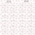 2011 2012 calendar ladybug Стоковая Фотография RF