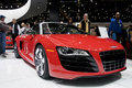 2011 Audi R8 Roadster at NAIAS Stock Photo