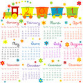 2011 calendar with train for kids Royalty Free Stock Image
