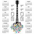 2011 guitar calendar Stock Photo