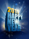 2011 Happy New Year card illustration Royalty Free Stock Images